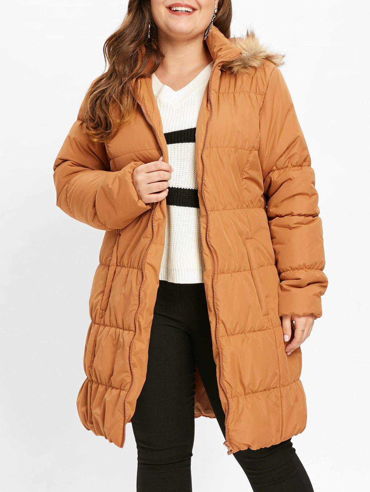 Buy Hooded Plus Size Puffer Coat