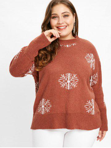 Plus Size Snowflake Sweater Pattern Red And Christmas Cheap With