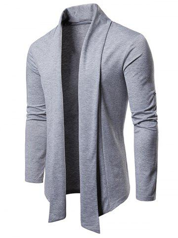 Whole Colored Open Front Cardigan