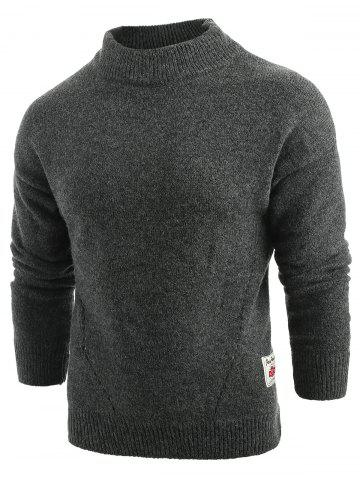 Long Sleeve Panel Pullover Sweater