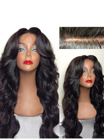 Long Free Part Body Wave Human Hair Lace Front Wig