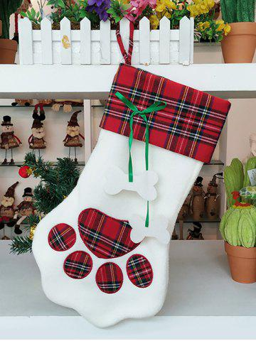 Pet Claw Print Christmas Gift Stocking Decoration