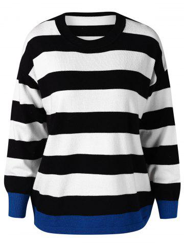 Color Block Stripes Sweater