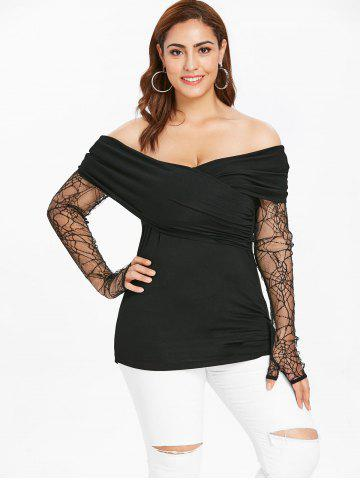 Plus Size Halloween Thumb Hole T-shirt