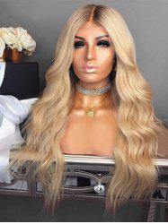 Middle Part Colormix Capless Long Wavy Synthetic Wig -