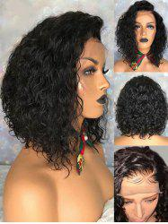 Short Side Bang Curly Synthetic Lace Front Wig -