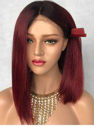 Medium Colormix Party Straight Synthetic Lace Front Wig -