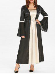 Plus Size Contrast Halloween Cosplay Dress -