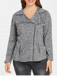 Plus Size Space Dyed Jacket -