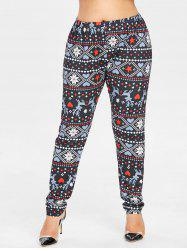 Plus Size Elk Christmas Leggings -
