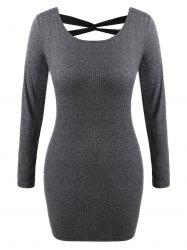 Criss Cross Knit Bodycon Dress -