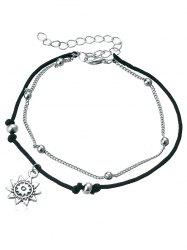 Multi-Layers Sunflower Pendant Anklet Chain -