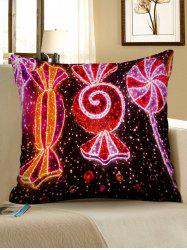 Christmas Candy Printed Pillowcase -