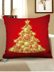 Gear Christmas Tree Printed Pillowcase -