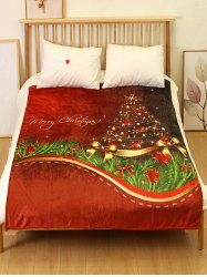 Christmas Tree Printed Flannel Soft Blanket -