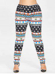 Plus Size Graphic Christmas Leggings -