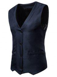 Irregularity Single Breasted V Neck Waistcoat -