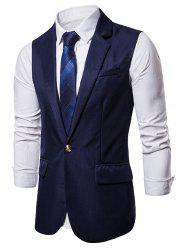 Single Button Flap Pocket Waistcoat -