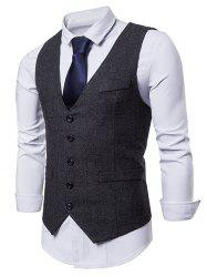 Single Breasted V Neck Waistcoat -