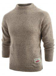 Long Sleeve Panel Pullover Sweater -