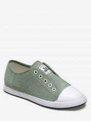 Ribbed Lace Up Flat Sneakers -