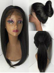 Free Part Medium Straight Human Hair Lace Front Wig -