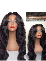 Long Free Part Body Wave Human Hair Lace Front Wig -
