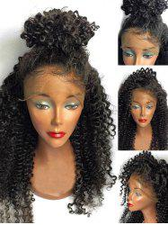 Free Part Long Curly Lace Front Human Hair Wig -