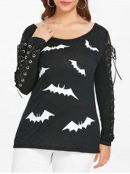 T-shirt à lacets Halloween, grande taille -