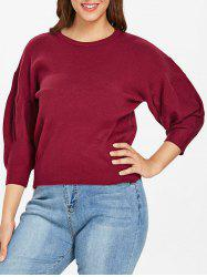 Plus Size Puff Sleeve Sweater -