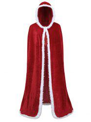 Christmas Plus Size Hooded Cloak Coat -
