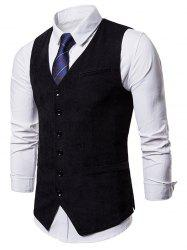 Side Split Design Single Breasted Waistcoat -
