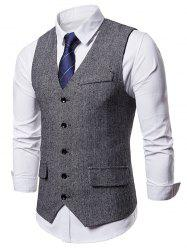 Flap Pocket Single Breasted Waistcoat -