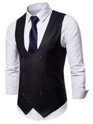 Back Belt Design Solid Color Waistcoat -