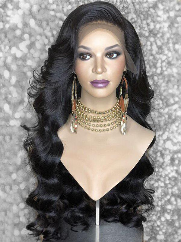 Fashion Long Side Bang Body Wave Synthetic Lace Front Wig