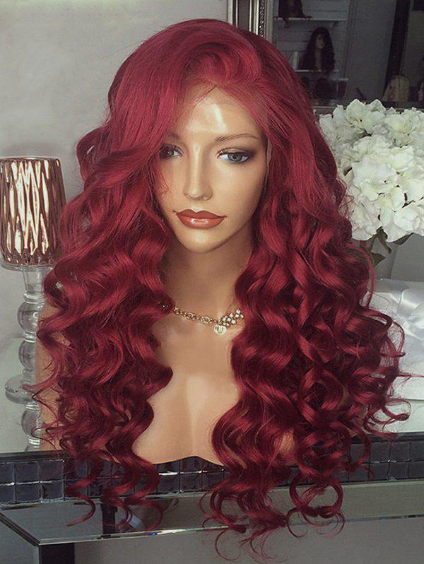 Trendy Long Free Part Body Wave Party Lace Front Synthetic Wig