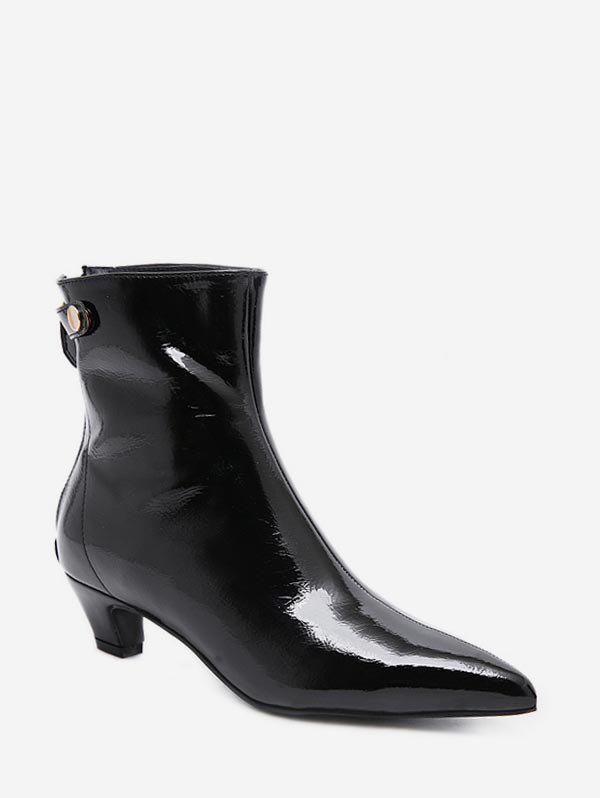 95967a5c69111 37% OFF] Pointed Toe Patent Leather Ankle Boots | Rosegal