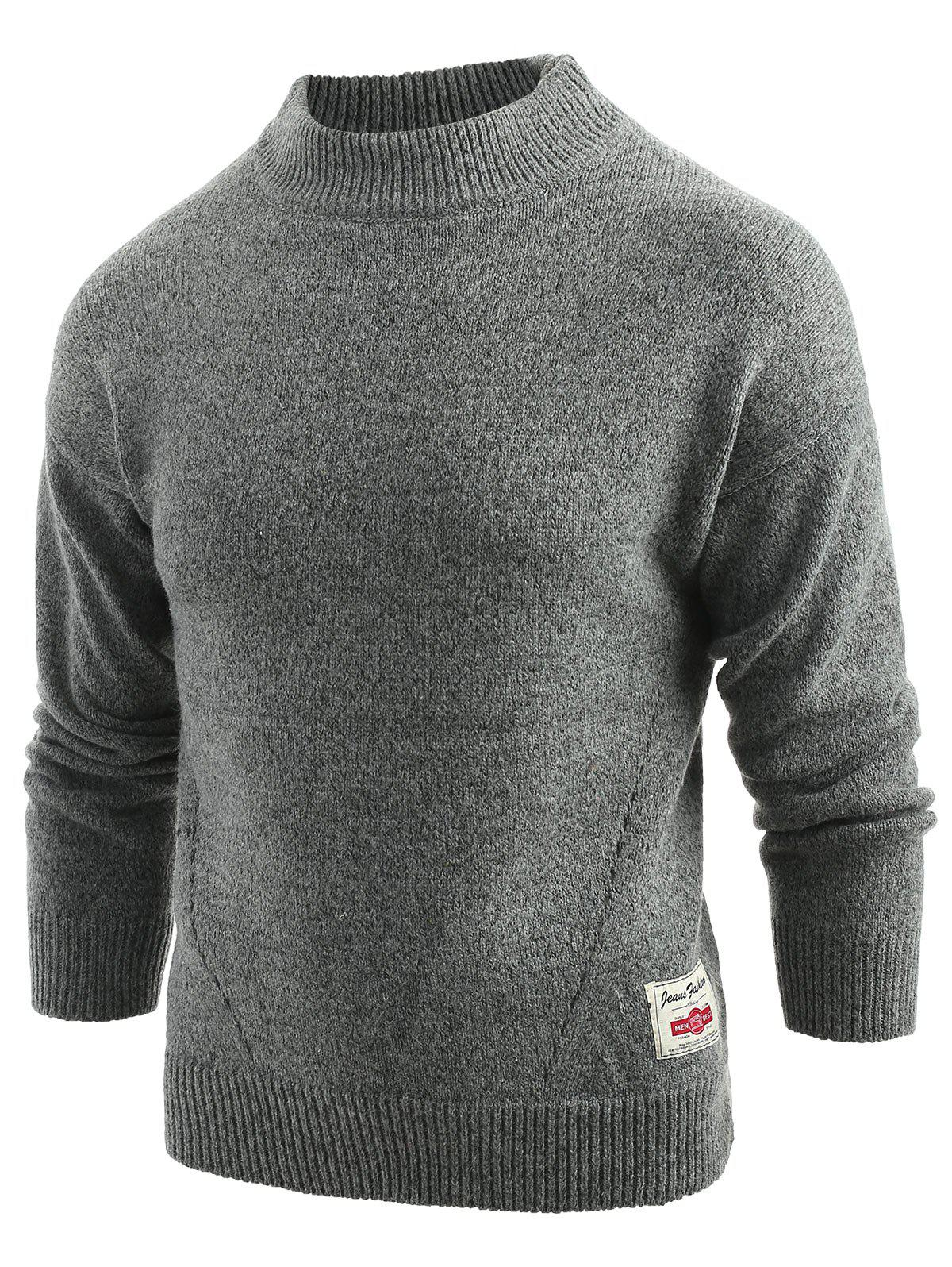 Best Long Sleeve Panel Pullover Sweater
