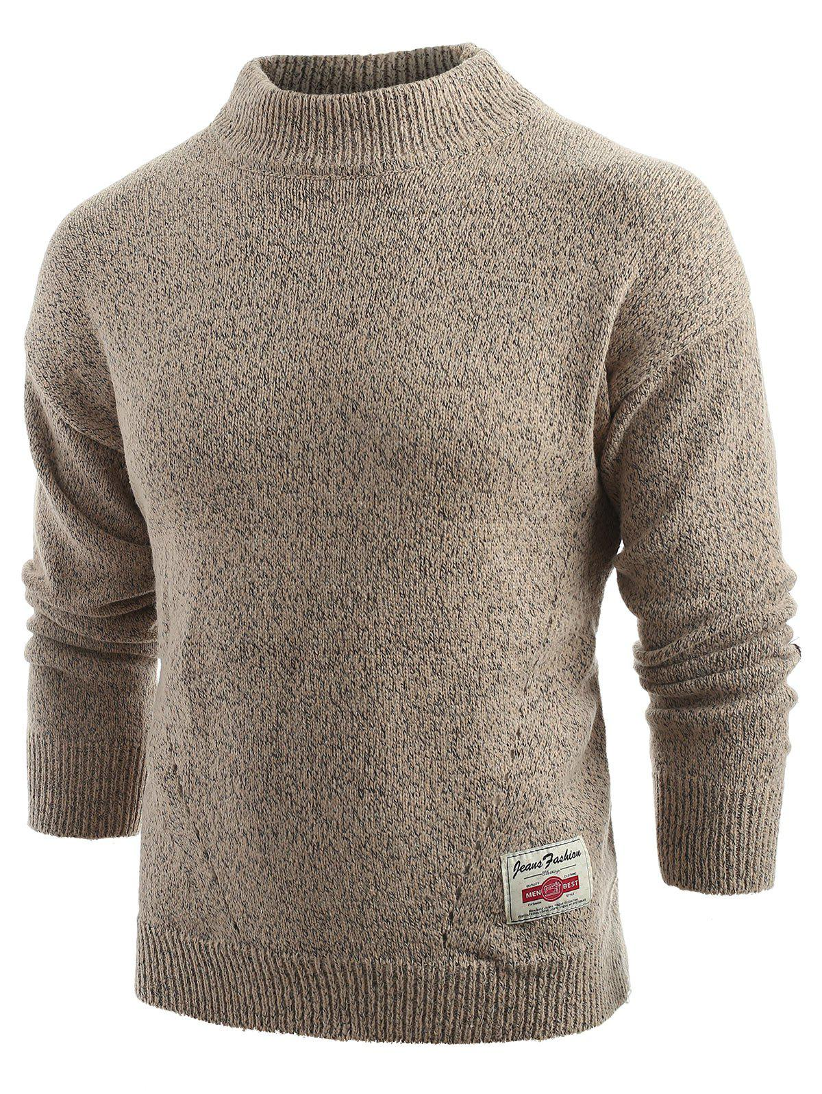 Hot Long Sleeve Panel Pullover Sweater