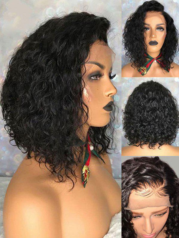 Outfit Short Side Bang Curly Synthetic Lace Front Wig