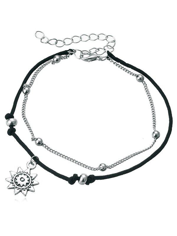 Best Multi-Layers Sunflower Pendant Anklet Chain