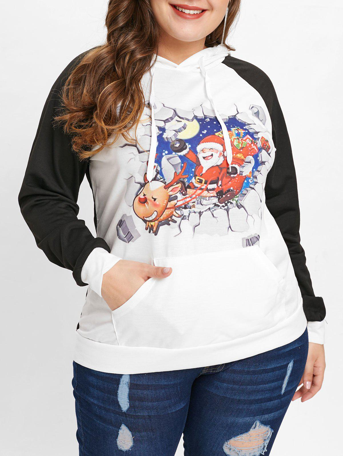 Hot Plus Size Santa Claus Christmas Hoodie