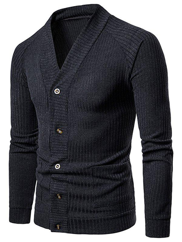 Outfit V Neck Casual Rib Cardigan