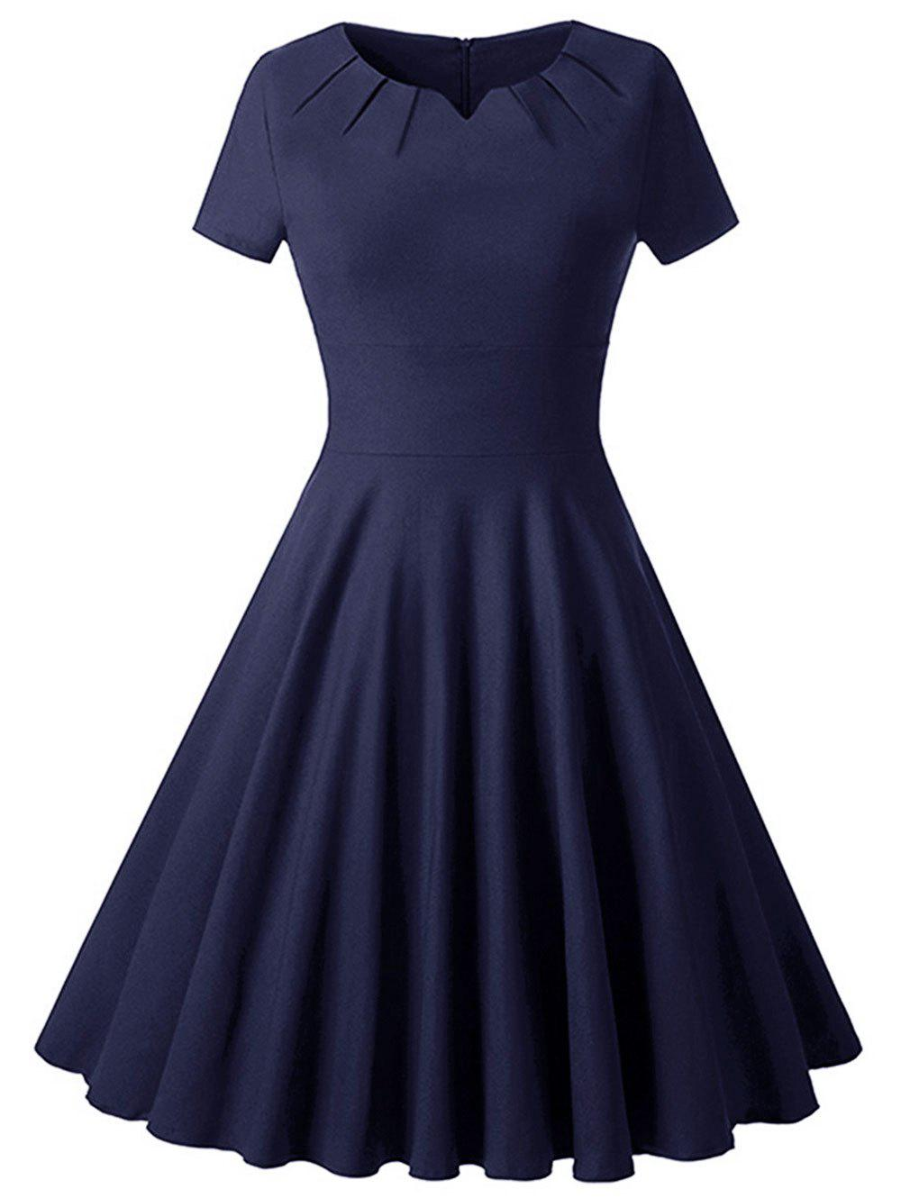 Hot Plus Size High Waisted Vintage Flare Dress