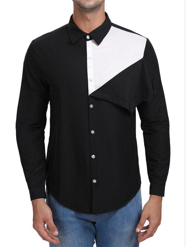 Latest Contrast Color Button Up Casual Shirt
