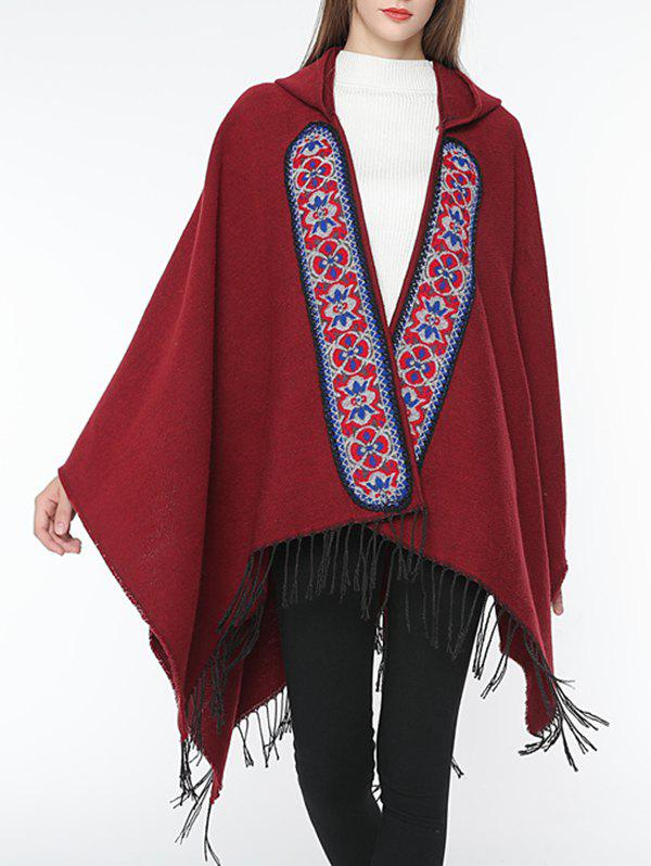 Fancy Ethnic Solid Color Fringed Winter Scarf