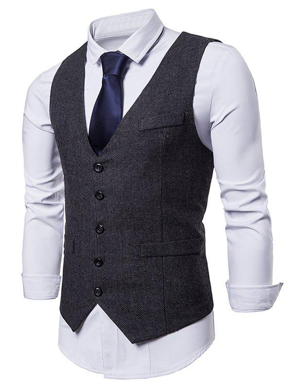 Shops Single Breasted V Neck Waistcoat