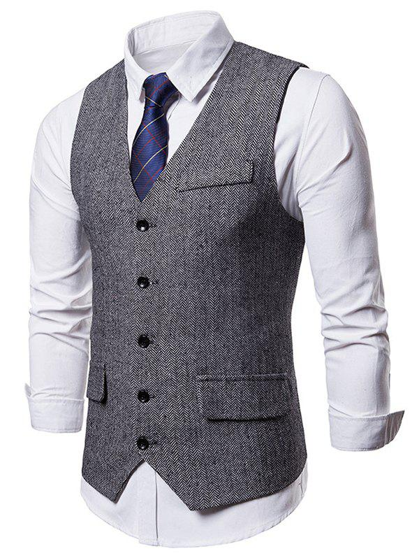 Trendy Flap Pocket Single Breasted Waistcoat