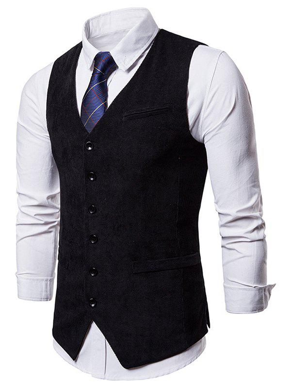 Sale Side Split Design Single Breasted Waistcoat