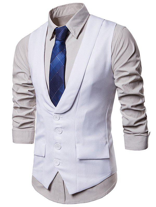 Shop Solid Color Single Breasted Waistcoat